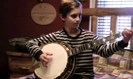 nine year old banjo whiz kid playing bluegrass