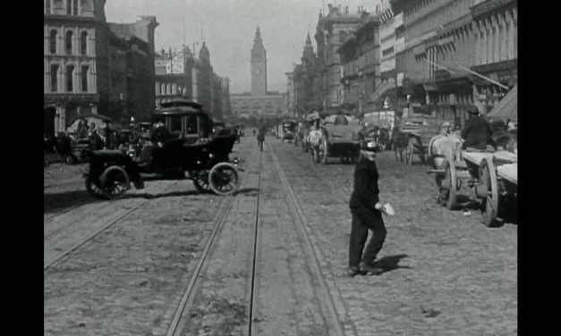 market street in san francisco before the 1906 earthquake