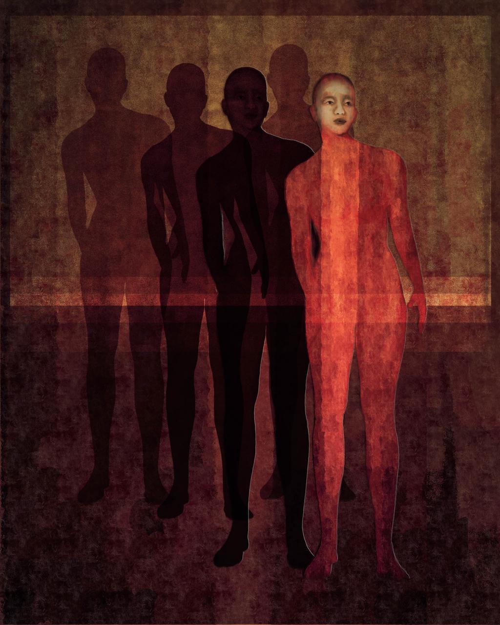 Nine: Digital Painting by Marina Flournoy